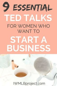 9 Essential Ted Talks for women who want to start a business. Want to be a female entrepreneur? I've selected these talks based on what kind of person you are and the fears you may have about starting a business. The speakers have great tips and advice ab Business Planning, Business Tips, Business Women, Online Business, Business Quotes, Business Motivation, Business Ideas For Women Startups, Business Coaching, Business Video