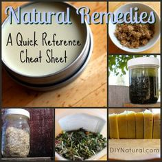 Natural Remedies - A Quick Reference Cheat Sheet