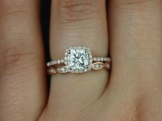 $1,850.00  Kelley's #1 FAVORITE!! Square=love  rose gold=love band shape and amount of bling = love