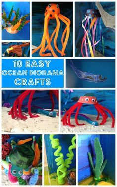 Easy Ocean Diorama Crafts For Kids Ocean Activities for Kids School Projects, Projects For Kids, Crafts For Kids, Arts And Crafts, Ocean Diorama, Diorama Kids, Ocean Habitat, Dolphin Habitat, Ecosystems Projects