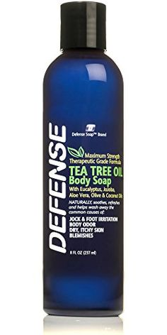 Defense Soap Antifungal Body Wash Shower Gel 8 Oz 100 Natural Antibacterial Tea Tree Oil and Eucalyptus Oil Helps Wash Away Ringworm Jock Itch Psoriasis Yeast and Athletes Foot * Find out more about the great product at the image link. Organic Face Wash, Organic Tea Tree Oil, Natural Body Wash, Defense Soap, Oil Free Makeup, Eucalyptus Oil, Body Soap, Natural Essential Oils, Shower Gel
