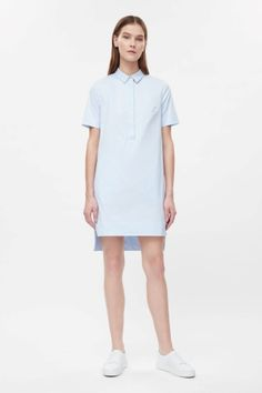 Grosgrain detail shirt dress