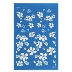 Silk Screen Moiko pour Pâte polymère 74x105 mm - Motif Fleur Tropicale 9.01