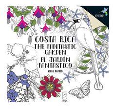 El  jardín fantástico. The fantastic garden de Vicky Ramos  Álbum ilustrado para colorear