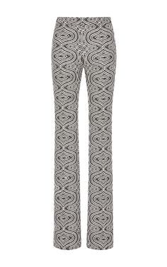 5739ab5e9df1 Wide Leg Trousers In Marble Jacquard