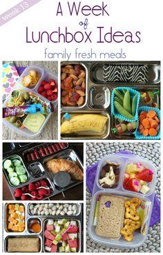 A Week of Lunchbox Ideas - FamilyFreshMeals.com #recipe #lunch #plan