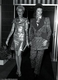 Old love: Pictured in 1973, Angie and David were married from 1970-80
