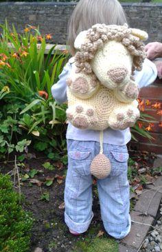Kids Bag Leo the Lion Backpack Crochet by PeachUnicornCrochet, £1.99