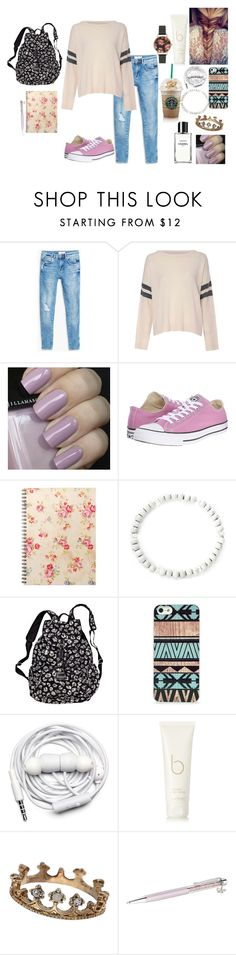 """""""you've been on my mind .."""" by rosesophiawalker ❤ liked on Polyvore featuring MANGO, Glamorous, Converse, Victoria's Secret, BlissfulCASE, Chanel, Urbanears, Bamford, TIARA and Swarovski"""