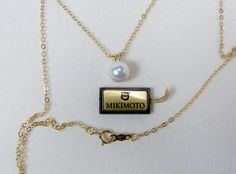 MIKIMOTO 18K Gold Pearl Pendant Necklace, 6MM Akoya Pearl, Estate Jewelry, Original Box, Gold Necklace, Vintage Jewelry, White Pearl by VintageGemz on Etsy