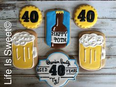 Facebook.com/lifeissweetcookie. 40th birthday cookies