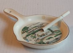 #sale ashtray Niagara Falls porcelain made in Japan circa 1970 withing our EBAY store at  http://stores.ebay.com/esquirestore