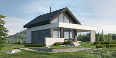 Projekt domu HomeKONCEPT-65 A | HomeKONCEPT Home Fashion, Home Projects, Barn, Floor Plans, Flooring, Mansions, House Styles, Outdoor Decor, Home Decor