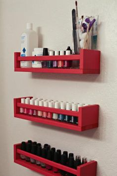 Don't like the red, but that'd be easy to paint. Finally something for my hundreds of nail polish taking up space!