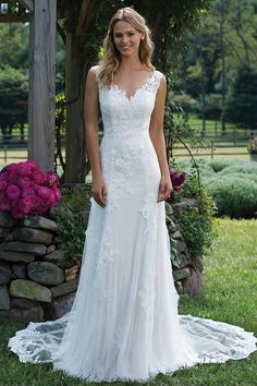Wedding Dress out of Sincerity Bridal Style Chantilly and Corded Lace Trumpet Dress with Detachable Train. Wedding Dress out of Sincerity Bridal Style Chantilly and Corded Lace Trumpet Dress with Detachable Train. Sincerity Bridal Wedding Dresses, Dream Wedding Dresses, Bridal Gowns, Wedding Gowns, Simple Lace Wedding Dress, Wedding Dress Big Bust, Boho Wedding, 2017 Wedding, Modest Wedding