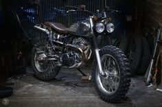 Yamaha TW200 scrambler by ZIFE Design