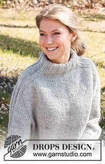 Naiset - Ilmaisia neule- ja virkkausohjeita DROPS Design:lta Baby Knitting Patterns, Crochet Patterns, Drops Design, Easy Knitting, Knitting Yarn, Knit Crochet, Sweater Knitting Patterns, Free Knitting, How To Knit