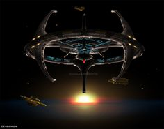 No prize for guessing what this is; however, at the same time its not. This is Terok Nor, before it shuttled itself over to the Wormhole and became Deep Space Nine – the Alamo of the Alpha Quadrant...
