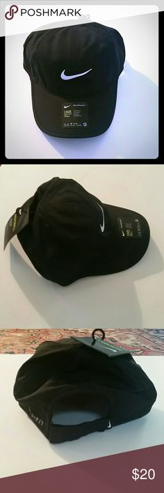 Women's Nike Featherlight Baseball Hat Sport this Nike women's Featherlight adjustable hat. Its Dri-FIT technology helps eliminate moisture for lasting dryness, so you'll always enjoy a comfortable workout.  *Price firm unless bundled Nike Accessories Hats