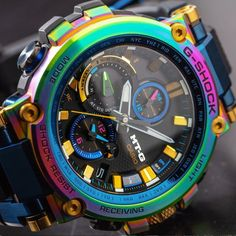 G-Shock Connected Anniversary Limited Edition Rainbow G Shock Watches Mens, Casio G Shock, Watches For Men, Stylish Watches, Cool Watches, Men's Watches, Burberry Men, Gucci Men, Durable Watches