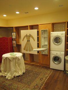 washer dryer in master closet