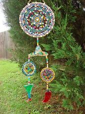 Handmade Outdoor Yard Art Mardi Gras Beads Cinco De Mayo Fiesta Margarita Mobile