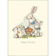 Happy Easter, by Anita Jeram Easter Art, Hoppy Easter, Easter Crafts, Easter Bunny, Easter Eggs, Anita Jeram, Easter Illustration, Easter Parade, Bunny Art
