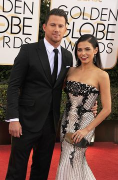 Channing and Jenna-Dewan Tatum at the Golden Globes.