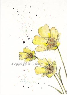 Buttercups Art Print 5x7 by claireswilson on Etsy, $15.00