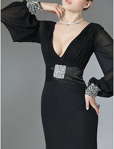 DORIA - Vestido de Festa em Chifon e Cetim - GBP £ 103.35