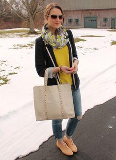 Penny Pincher Fashion: 4 Ways to Wear: Tipped Blazer