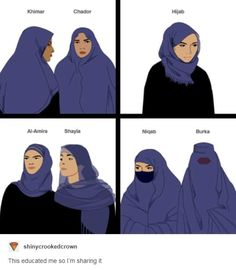i never knew there were different names for head scarves