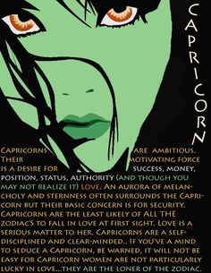 Also true for Capricorn men...at least this one! ;)