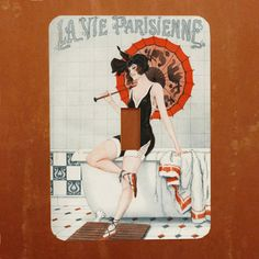 Bathing Beauty  French Magazine Cover Light Switch by Polkadotdog