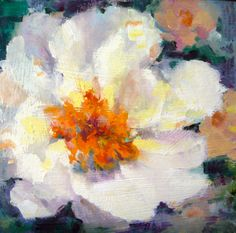 Original oil painting by Tina Wassel Keck.  Oil on canvas on panel, 6x6inches  $35.99