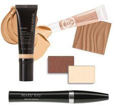 'Nice & Natural' look by MARY KAY http://www.marykay.com/LRyon Our NEW CC Cream lightweight foundation, 'Teddy Bare' lip jelly, Bronzer, Crystalline & Truffle Eye Shadow, Black Ultimate Mascara!