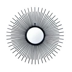 Iron Rays Wall Mirror $68.99  #decor #furnishings #home #furniture #homefurnishings #homedecor