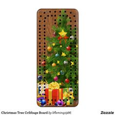 Christmas Tree Cribbage Board