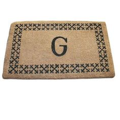 "Geo Crafts Imperial Border Doormat Rug Size: 18"" x 30"", Letter: H"