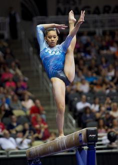 Veronica Hults (United States) on balance beam at the 2014 P&G Championships