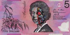This Anonymous Australian Artist Transforms Currency into Works of Art #streetart #graffiti trendhunter.com