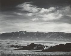 1943 The White Mountain Range and Upper Owens Valley from the Buttermilk Country by Ansel Adams