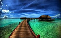 Tropical Bora Bora Waterfront Huts, French Polynesia