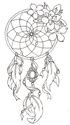 Dreamcatcher design/ with color beat in the center, like an eye/different natural feathers