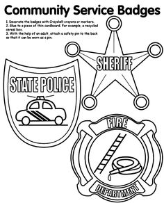 image result for community helper male nurse | communityhelpers ... - Firefighter Badges Coloring Pages