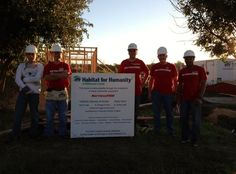 Mattress Firm team on their first build day