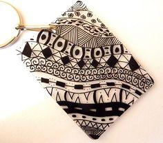 Shrink art key chain More