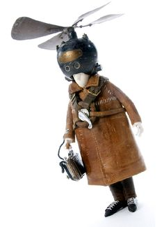 Steampunk characters from Belgian artist Stephanie Halleux.