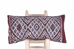 Vintage-Berber-Kilim-Pillow-Cushion-Lumbar-Handmade-in-Morocco-24-x12-CV218