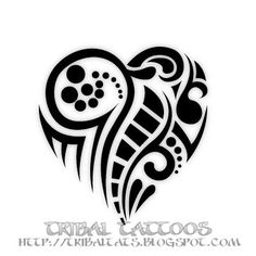 7 Unique Designs of Tribal Heart Tattoos Gallery - tattoo ideas canada. Anchor Tattoo Design, Heart Tattoo Designs, Tattoo Anchor, Wicked Tattoos, Body Art Tattoos, Tatoos, Skull Tattoos, Foot Tattoos, Sleeve Tattoos
